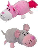 """Мягкая игрушка """"Вывернушка. Розовый кот-мышка"""" (35 см)"""