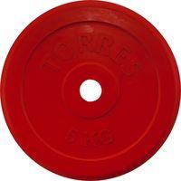 Диск обрезиненный 5 кг (красный; арт. PL50405)