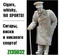 """Миниатюра """"Сигары, виски и никакого спорта (Черчилль)"""" (масштаб: 1/35)"""