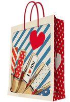 """Пакет бумажный подарочный """"Прищепки"""" (26x32,4x12,7 см; арт. 35953)"""