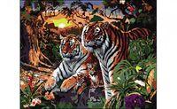 "Картина по номерам ""Семья тигров"" (400x500 мм)"
