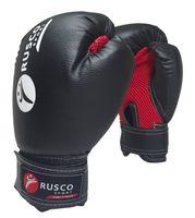Перчатки боксёрские (6 унций; черные)