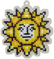 """Алмазная вышивка-мозаика """"Брелок. Солнышко"""" (88х95 мм)"""