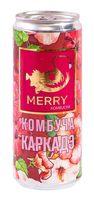"""Комбуча """"Merry. Каркадэ"""" (330 мл)"""