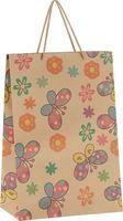"Пакет бумажный подарочный ""Бабочки и цветочки"" (24х33х8 см; арт. 43730)"