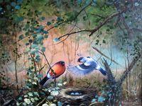 "Картина по номерам ""В гнезде"" (400х500 мм)"