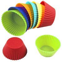 Форма силиконовая для выпекания кексов (12 шт.; 70 мм)