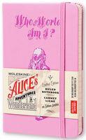 """Записная книжка Молескин """"Алиса в Стране Чудес"""" в линейку (карманная; твердая розовая обложка)"""