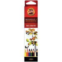 """Акварельные карандаши """"Mondeluz"""" (6 цветов)"""