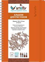 """Альбом для рисунков """"Artefly"""" (А5; оранжевый)"""