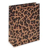 """Пакет бумажный подарочный """"Леопардовый"""" (25х19х8 см)"""