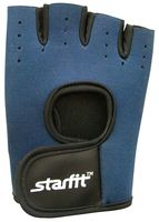 Перчатки для фитнеса SU-107 (S; тёмно-синие/черные)