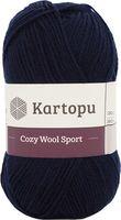 """Пряжа """"KARTOPU. Cozy Wool Sport №K630"""" (100 г; 280 м; темно-синий)"""
