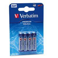 Батарейка AAA LR03 Verbatim алкалиновая (в упаковке 4 штуки)