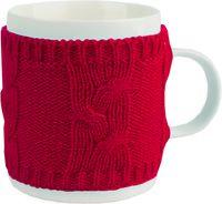Кружка фарфоровая в теплом вязаном свитере (350 мл)