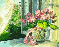 "Картина по номерам ""Букет на окне"" (400х500 мм)"