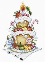 """Вышивка крестом """"Фруктовый десерт"""" (240х160 мм)"""