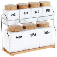 Набор банок для сыпучих продуктов (8 предметов)