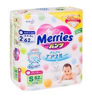 "Подгузники-трусики ""Merries S"" (4-8 кг; 62 шт.)"