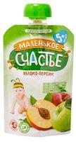 """Детское пюре Маленькое счастье """"Яблоко, персик"""" (90 г)"""