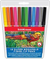 Фломастеры суперсмываемые в пластиковой упаковке (12 цветов)