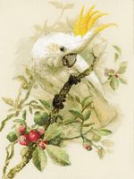 "Вышивка крестом ""Белый какаду"" (арт. 1362)"