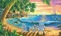 "Картина по номерам ""Закат на пляже"" (310х510 мм; арт. DMS-73-91444)"