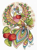 """Вышивка крестом """"Сказочная птица"""" (240х160 мм)"""