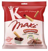"""Сухарики ржано-пшеничные """"Maxi. Соус барбекю и стейк с черным перцем"""" (50 г)"""