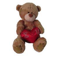 """Мягкая игрушка """"Мишка с сердцем"""" (13 см)"""