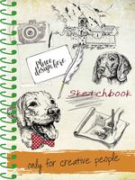 """Скетчбук """"Нарисованные собаки"""" (А5)"""