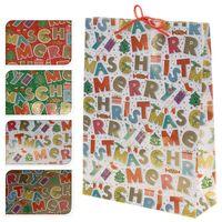 """Пакет бумажный подарочный """"Merry Christmas"""" (в ассортименте; 25х34,5х8,5 см; арт. ABD600310)"""