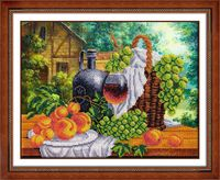 "Вышивка бисером ""Натюрморт с вином"" (360х280 мм)"