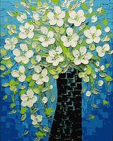 "Картина по номерам ""Белые цветы"" (400х500 мм; арт. PC4050133)"