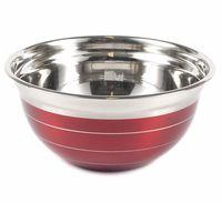 Салатник металлический (3,28 л; красный)