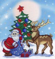 """Вышивка крестом """"Дед Мороз"""" (220х210 мм)"""