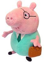 """Мягкая игрушка """"Папа Свин с кейсом"""" (30 см)"""