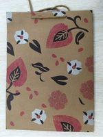 """Пакет бумажный подарочный """"Пламя цветов"""" (24х33х8 см; арт. 43736)"""