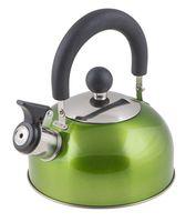 Чайник металлический со свистком (1,2 л; зеленый металлик)