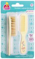 Набор для ухода за волосами детский (расческа, щетка)