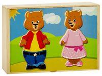 """Деревянная игрушка """"Два медведя"""""""
