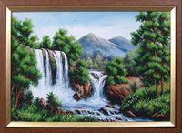 """Вышивка бисером """"Водопад в горах"""""""
