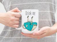 """Кружка """"Drink me"""" (арт. 947)"""