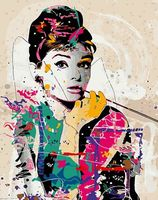 "Картина по номерам ""Одри Хепберн"" (500х650 мм)"