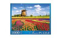 """Пазл """"Нидерланды. Тюльпановое поле и мельница"""" (1000 элементов)"""