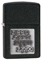 Зажигалка Zippo 363. Zippo Pewter Emblem. Black Crackle