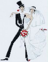 "Вышивка крестом ""Свадебное танго"" (200х260 мм)"