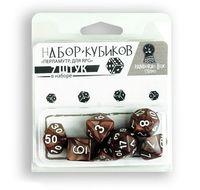 """Набор кубиков """"Перламутр"""" (7 шт.; коричневый)"""