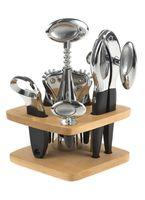 Набор кухонных инструментов металлических на подставке (4 предмета; арт. KL38D24)