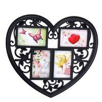 "Рамка пластмассовая ""Сердце"" на 4 фото (10х15 см; арт. 10989632)"